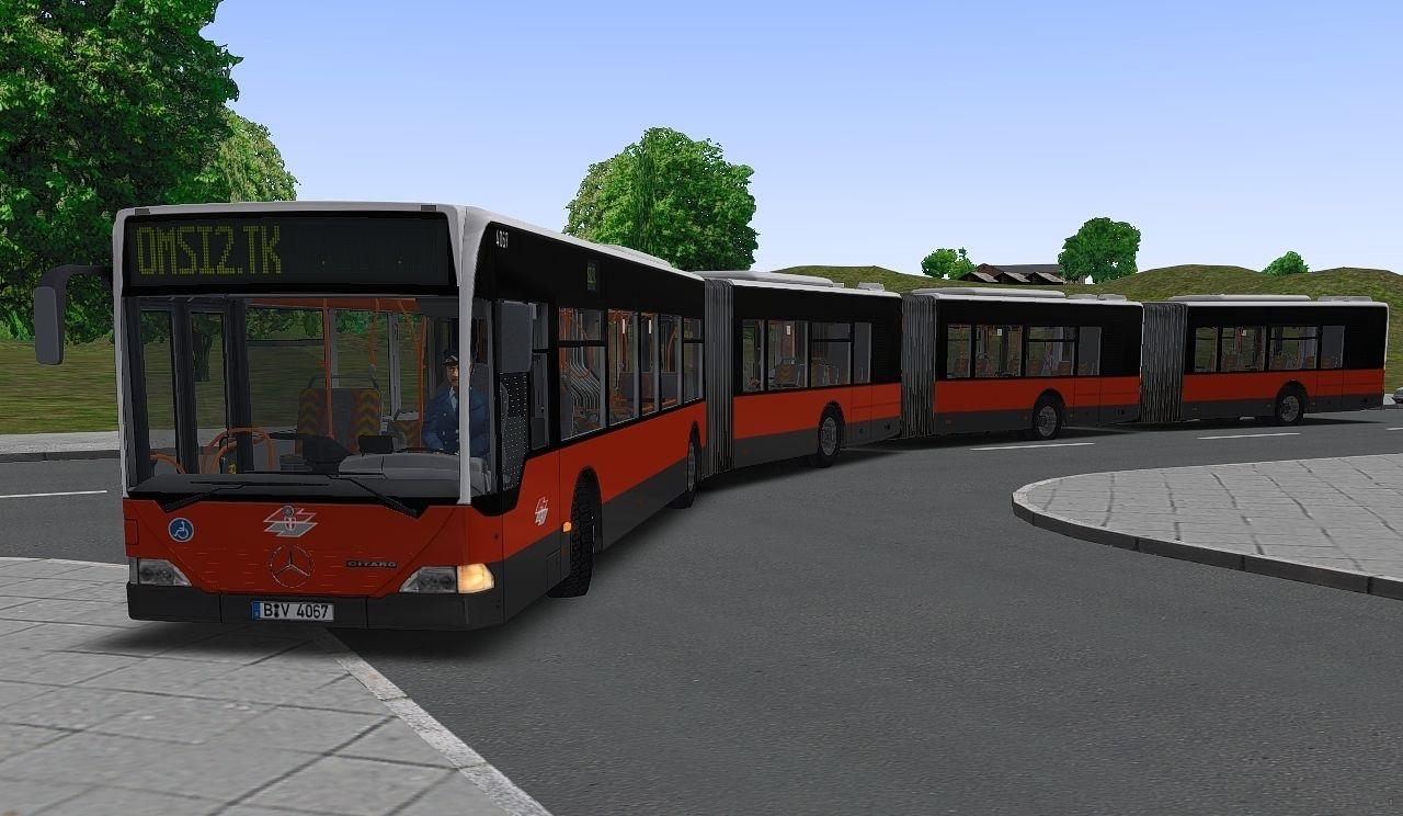 автобусы с гармошкой для omsi